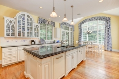 67 West Rose Valley Road  |  Kitchen with gorgeous glass cabinetry