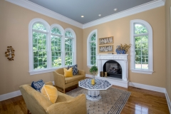 67 West Rose Valley Road  |  Great Room with marble fireplace