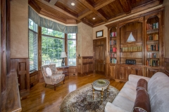 67 West Rose Valley Road  |  Handsome Library with Walnut cabinetry